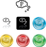 Question query icon symbol Royalty Free Stock Image