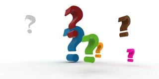 Question-repères Images libres de droits
