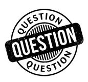 Question rubber stamp. Grunge design with dust scratches. Effects can be easily removed for a clean, crisp look. Color is easily changed Stock Photography