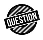 Question rubber stamp. Grunge design with dust scratches. Effects can be easily removed for a clean, crisp look. Color is easily changed Royalty Free Stock Photos