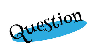Question rubber stamp. Grunge design with dust scratches. Effects can be easily removed for a clean, crisp look. Color is easily changed Stock Photo
