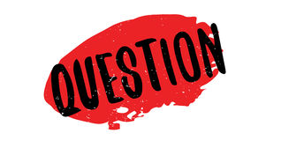 Question rubber stamp. Grunge design with dust scratches. Effects can be easily removed for a clean, crisp look. Color is easily changed Royalty Free Stock Photo