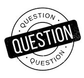 Question rubber stamp. Grunge design with dust scratches. Effects can be easily removed for a clean, crisp look. Color is easily changed Stock Photos