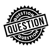 Question rubber stamp. Grunge design with dust scratches. Effects can be easily removed for a clean, crisp look. Color is easily changed Stock Image