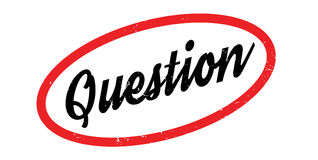 Question rubber stamp. Grunge design with dust scratches. Effects can be easily removed for a clean, crisp look. Color is easily changed Stock Images