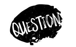 Question rubber stamp. Grunge design with dust scratches. Effects can be easily removed for a clean, crisp look. Color is easily changed Royalty Free Stock Images