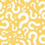 Question sans couture Mark Dialog Background Image stock