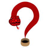 Question-shaped snake. Royalty Free Stock Images