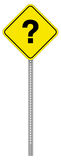 Question Sign. A yellow warning sign with a question mark royalty free illustration