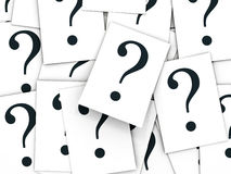 Question sign. A lot of papernotes with one big sign Royalty Free Stock Images