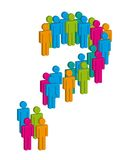 Question sign. 3d men question sign over white background vector Royalty Free Stock Photography
