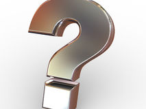 Question Sign. Beautiful graphic image. Question Sign. 3d Stock Photo