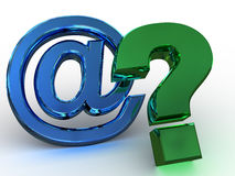 Question Sign. Three-dimensional graphic image. Question Sign. 3d Royalty Free Stock Image