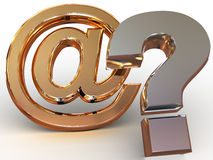 Question Sign. Three-dimensional a graphic image. Question Sign. 3d Royalty Free Stock Photo