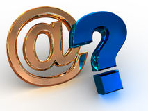 Question Sign. Three-dimensional graphic illustration. Question Sign. 3d Stock Photos