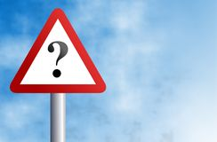 Question sign Stock Photography