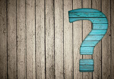Question sign on fence Stock Photos