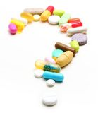 Question sign from pills Royalty Free Stock Image