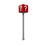 Question. Sign in red color Stock Photo