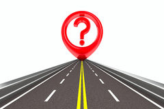 Question sign on road Royalty Free Stock Photography