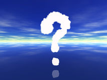 Question sign on water. Question sign made of smoke Royalty Free Stock Image