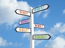 Question Signpost Stock Images