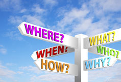Question Signpost Stock Photos