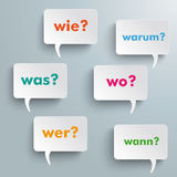 Question Speech Bubbles Royalty Free Stock Photography