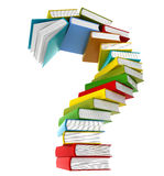 Question Symbol From Coloured Books Stock Images