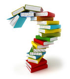 Question Symbol From Coloured Books Stock Photography