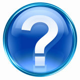 Question symbol icon blue Royalty Free Stock Photos