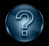 Question symbol icon dark blue. Stock Photography