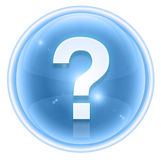 Question symbol icon ice Royalty Free Stock Photography