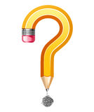Question symbol made of pencil Stock Photography