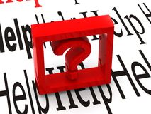 Question. Symbole image libre de droits