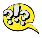 Question symbols - ?!? speech bubble in retro style vector illustration