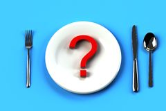 question of table manner stock illustration