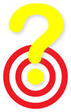 Question target Royalty Free Stock Photography