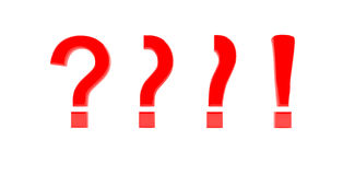 Question to exclamation mark Stock Image