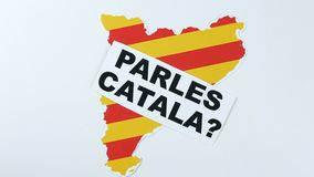 Question to people, do you speak Catalan, illustration. stock video