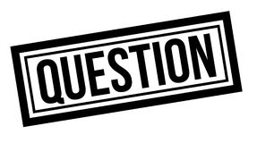 Question typographic stamp. Sign, label. Black rubber stamp series Stock Image