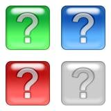 Question web buttons. Square question web buttons Vector Illustration
