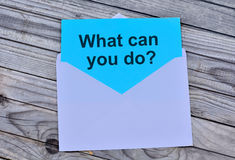 Question What can you do on paper. Question What can you do on blue paper Royalty Free Stock Images