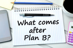 Question What comes after plan B Royalty Free Stock Images