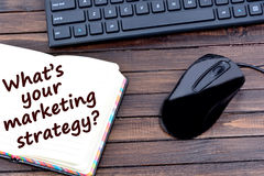 Question What`s your marketing strategy Stock Photos