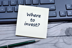 Question Where to invest on notes. Closeup Stock Images