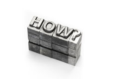 Question word, who, what, when, where, why, letterpress, Royalty Free Stock Photo