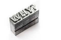 Question word, who, what, when, where, why, letterpress,. Question word letterpress lighting in studio stock photos