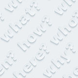 Question words walpaper. Stock Photos