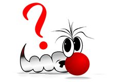 Question Worm. Funny comic character with question sign for presentations etc.. Available as vector too Stock Image